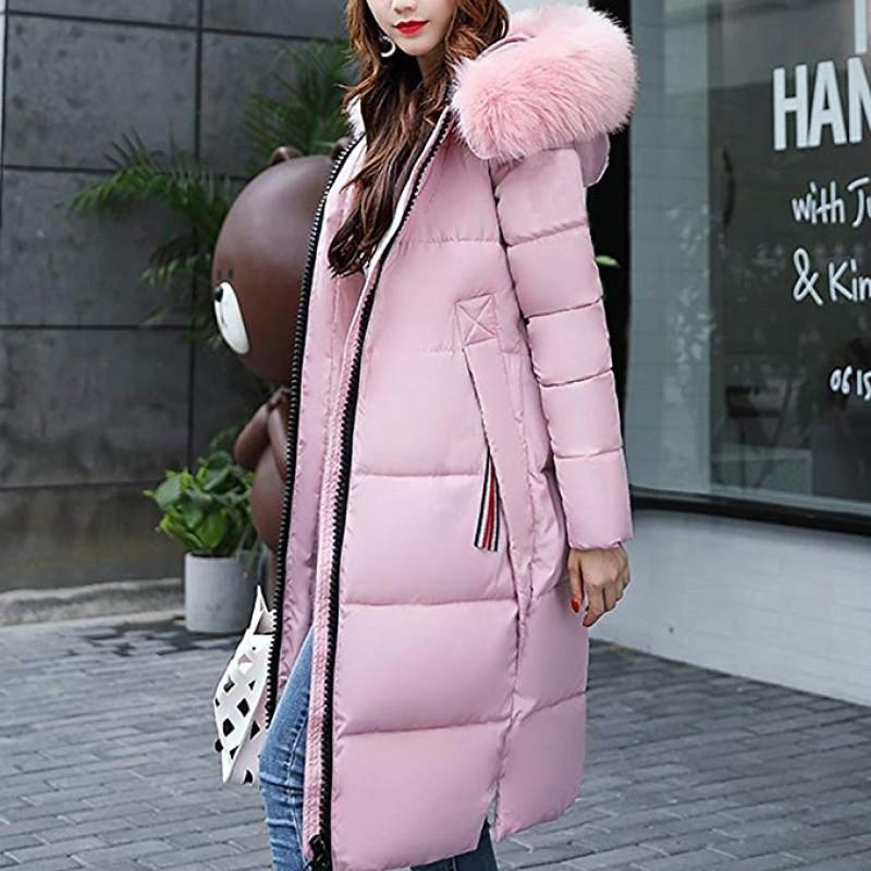 Women's Long Down Jacket Overcoat